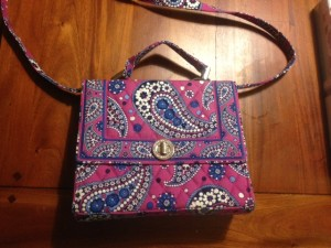 To me: the world's ugliest purse.  To buyer in Ohio: treasure worth 17.56.  Everyone is happy